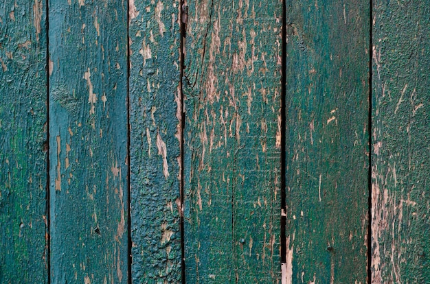 Weathered painted wooden boards texture background