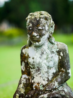Weathered statue in bali