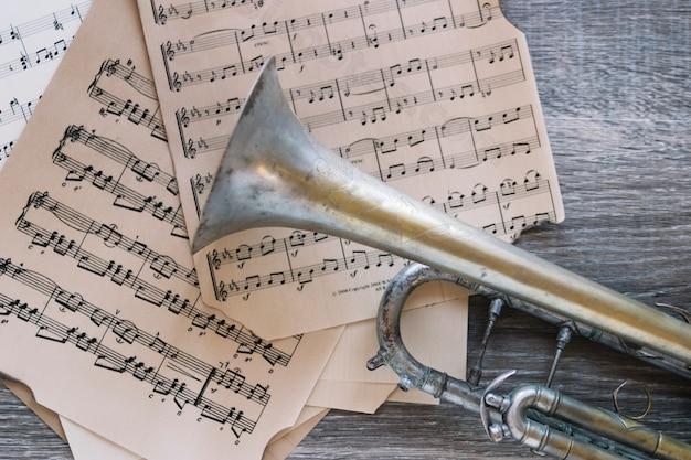Выдержанная труба на нотах