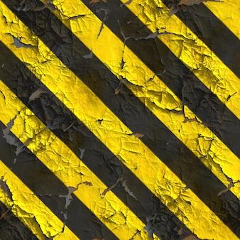노란색 및 검은 색 줄무늬의 풍화 경고 표면. 원활한 tileable 텍스처입니다.