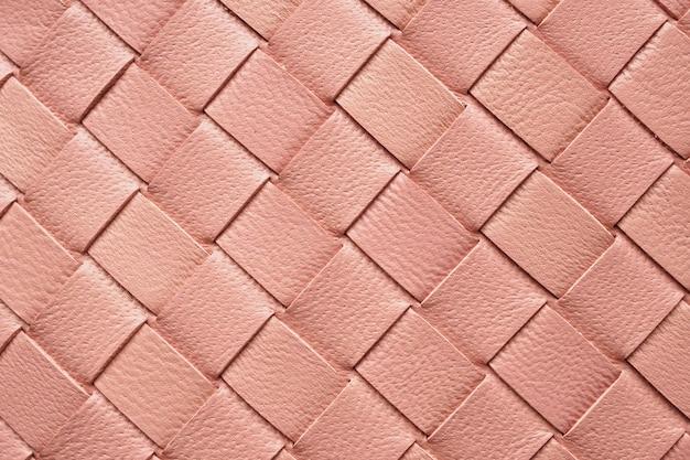 革のテクスチャパターンを織ります