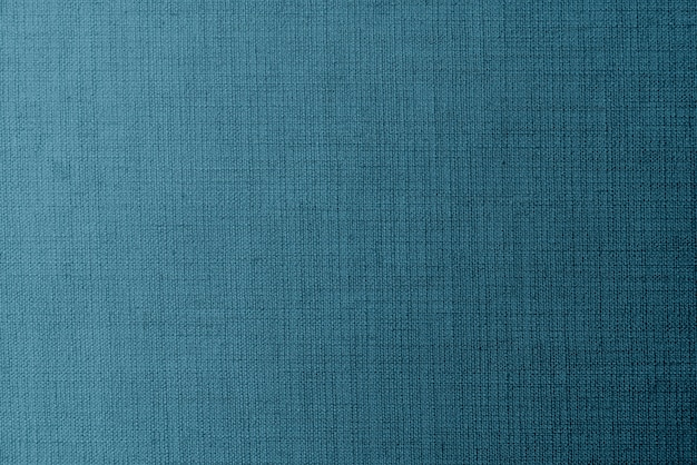 Weaved blue linen fabric