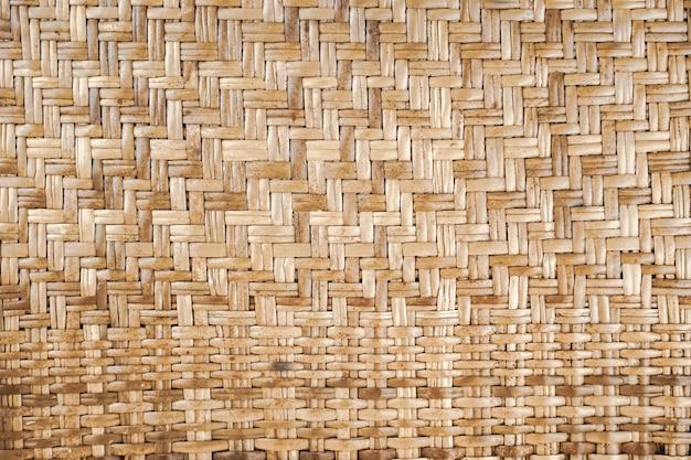 織り茶色の籐テクスチャ背景手作り織りテクスチャナチュラル籐