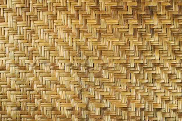 織り茶色の籐のテクスチャの背景手作りの織りのテクスチャナチュラル籐