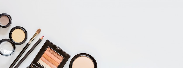 Web banner with cosmetics