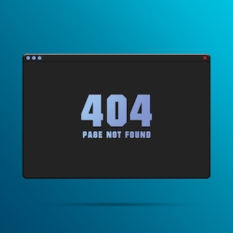 Web browser window with error 404