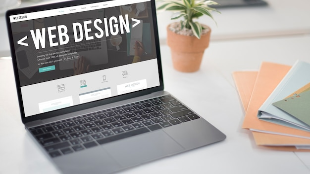 웹 디자인 인터넷 웹사이트 응답 소프트웨어 개념