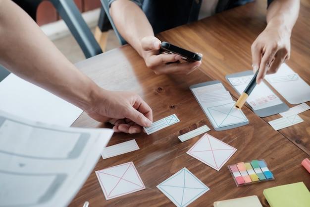 휴대 전화 용 웹 디자이너 계획 애플리케이션
