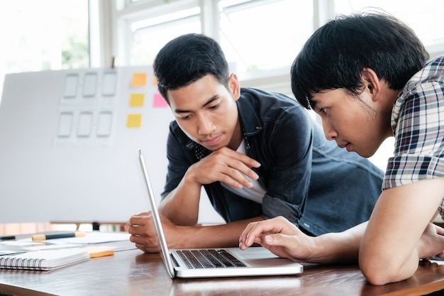 Web designer, ux ui designer planning application for mobile phone