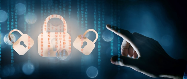 Web protection. locks and codes