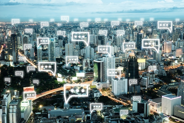 都市景観アイコンのシンボルのweb要素