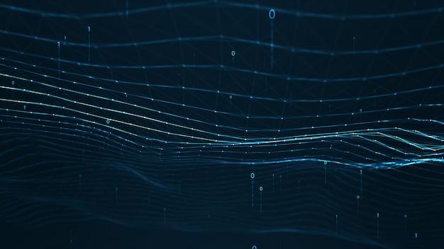 抽象的な神経叢の幾何学的図形。接続とwebのコンセプト。