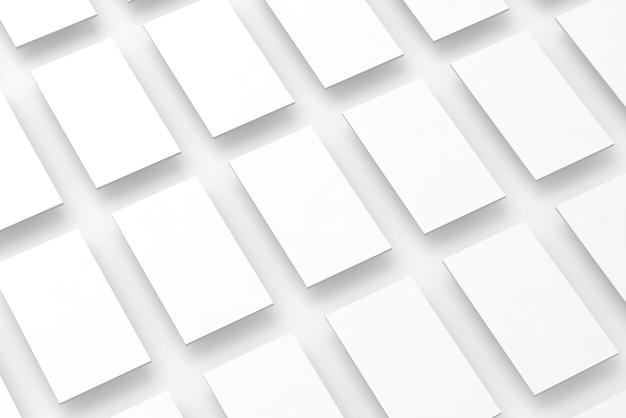 Webサイトデザインのモックアップの空白の白い四角形フィールド
