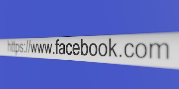 Url веб-сайта адрес facebook в браузере wwwfacebookcom