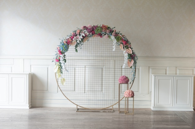Wedding arch indoor