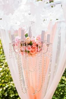 Wedding arch and wedding decor.
