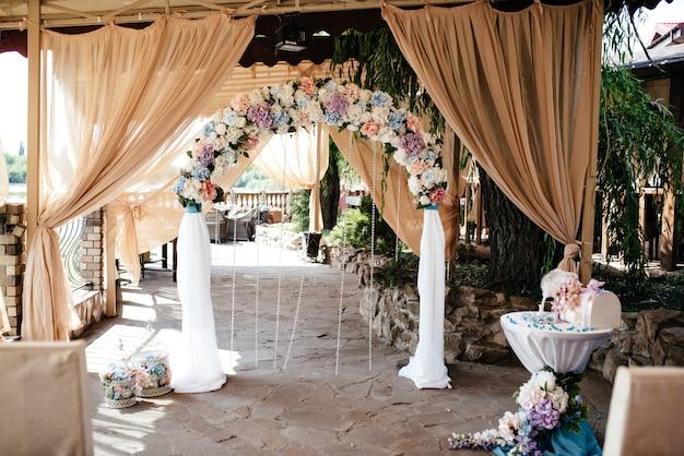 Wedding arch and wedding decoration.