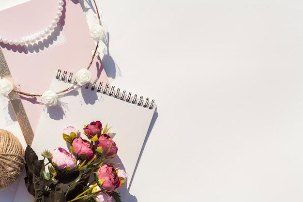 Wedding arrangement on white background