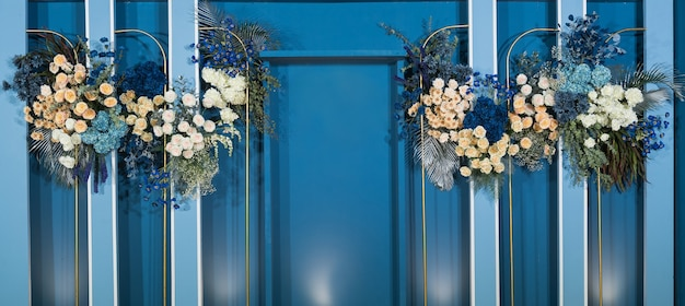 Wedding backdrop background,  flower decoration