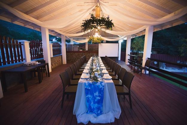 Wedding banquet. table setting.