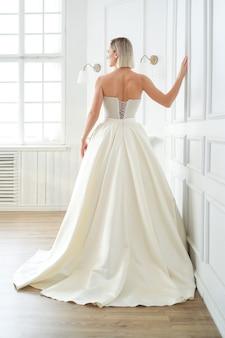 Wedding. beautiful bride in a wedding dress