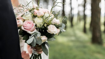 Wedding bouquet in outdoors