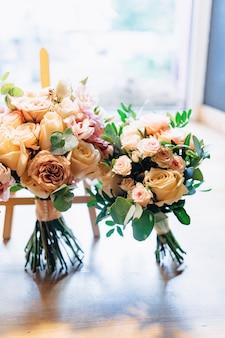 Wedding bouquet and wedding decoration, flowers and wedding floral arrangements