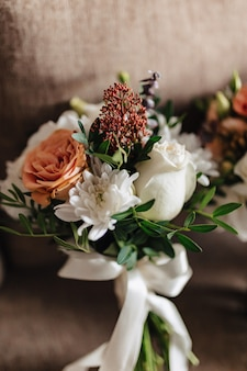 Wedding bouquet and wedding decoration, flowers and wedding floral arrangements