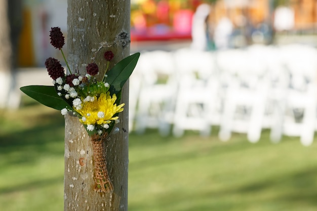 Wedding boutonniere for the groom outdoor wedding