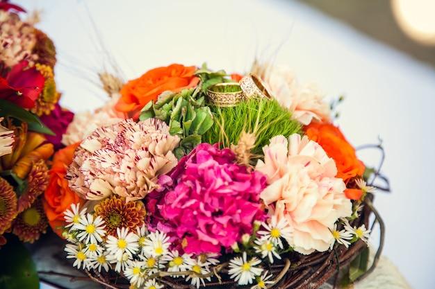 Свадебный букет невесты в осенней тематике.