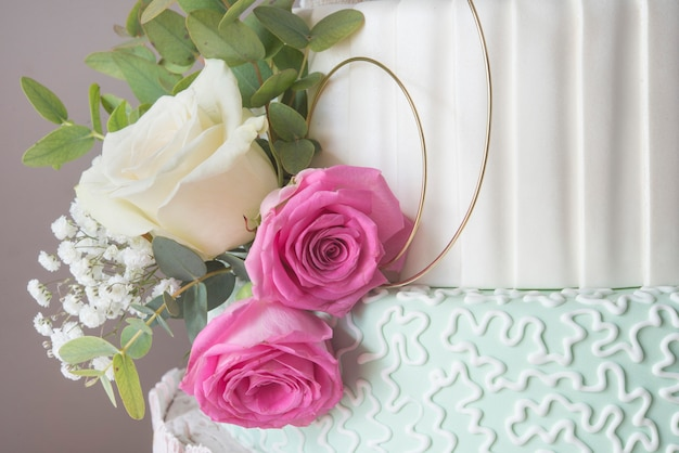 Wedding cake isolated