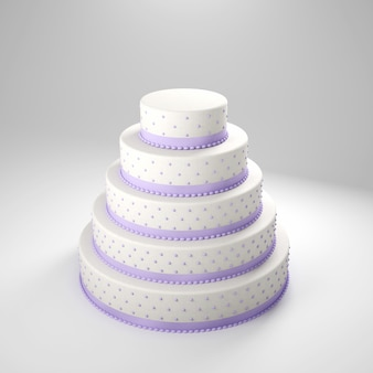 Wedding cake with lilac details