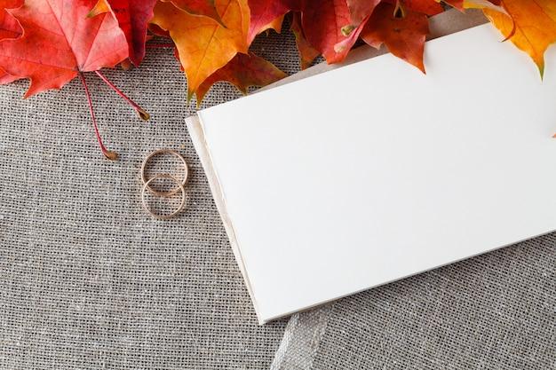 Свадебная открытка с местом для текста