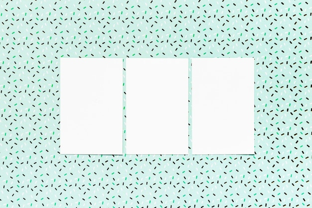Wedding cards with teal background