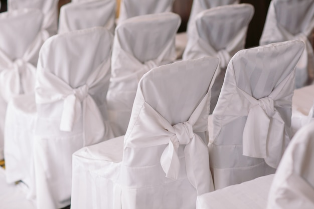 Wedding ceremony chairs at a wedding ceremony
