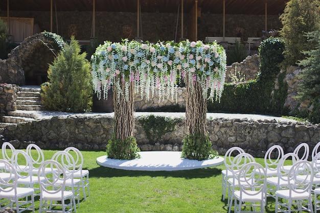 Украшение свадебной церемонии