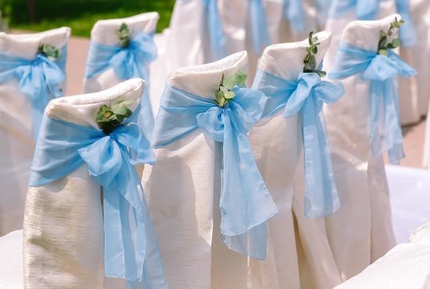Wedding ceremony decorations.