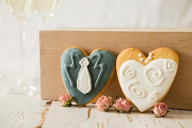 Wedding cookings of bride and groom