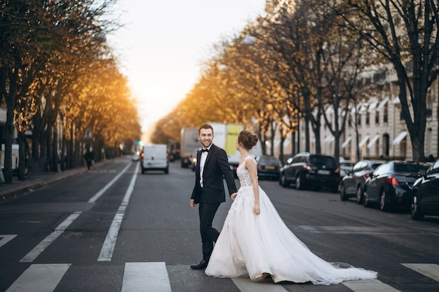 Wedding couple in france