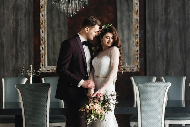 사랑에 결혼식 한 쌍