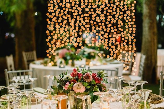 Wedding cutlery and centerpiece