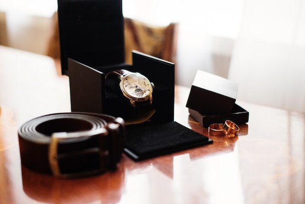 Wedding day. accessories  for wedding preparation.