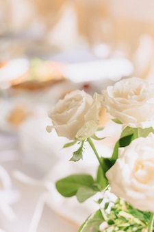 Wedding decor, flowers and floral design at the banquet and ceremony