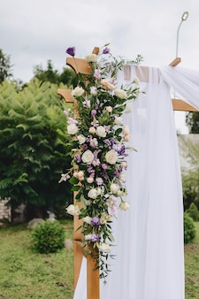 Wedding decor, flowers and floral design at the ceremony