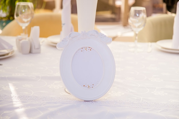 Wedding decor, number on the table