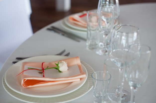 Wedding decor. personal decor, guest cards and serving plates