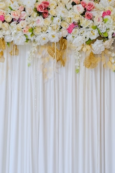 Wedding decoration flower background