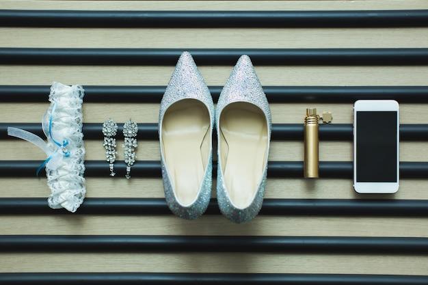 Wedding details. bride accessories