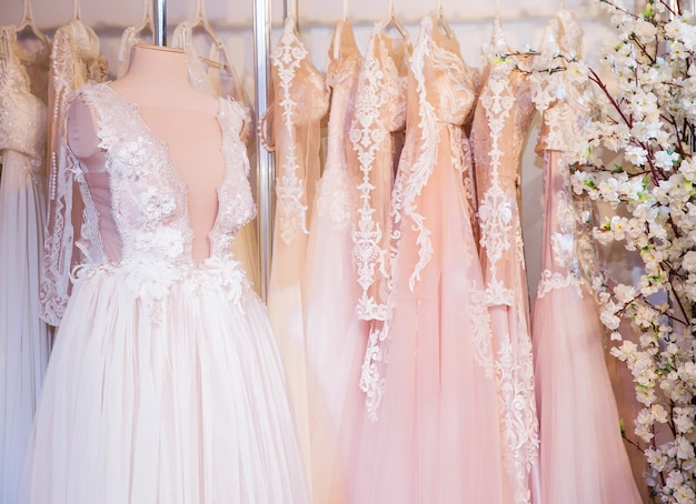 Wedding dresses at the exhibition