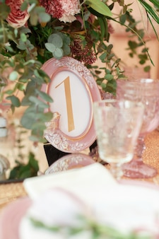 Wedding or event table.